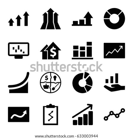 Data Analysis Icons Data Chart Icons Stock Vector