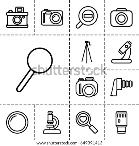 Magnifying Lens Icon Stock Images, Royalty-Free Images
