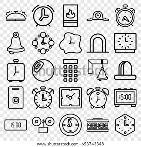 Alarm Icon Illustration Isolated Vector Sign Stock Vector