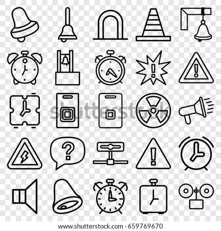 Work Safety Line Icon Set Stock Vector 621038459