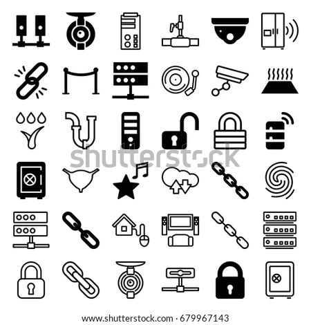 System Icons Set Set 36 System Stock Vector 679967143