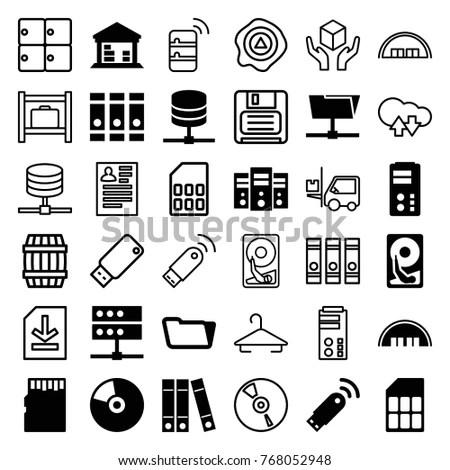 Electronics Gadgets Icon Set Surge Suppressor Stock Vector
