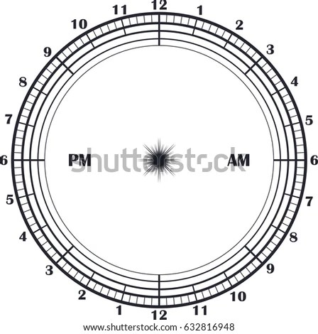 Time Management Daily Planner Clock 24 Stock Vector