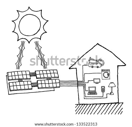 Solar Power Diagram Stock Images, Royalty-Free Images