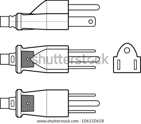 2 Prong Electrical Cord Right Angle Electrical Cord Wiring