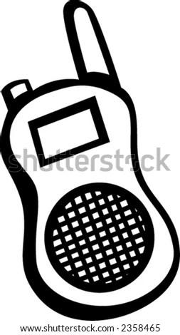 Portable Two Way Radio Police Emergency Stock Vector