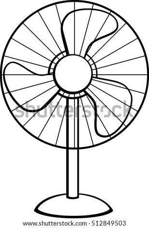 Pedestal Fan Stock Vector (Royalty Free) 512849503