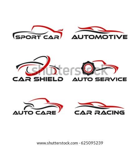 Set F Generic Car Logo Designs Stock Vector 625095239