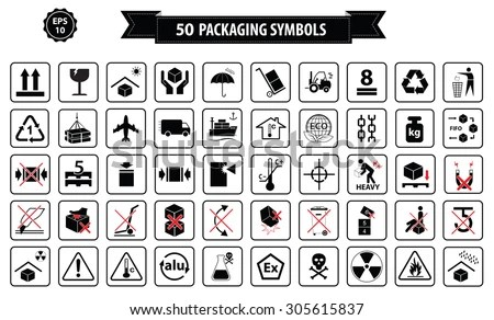 Packaging Symbols Stock Images, Royalty-Free Images