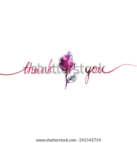 Cursive Thank You Stock Images, Royalty-Free Images