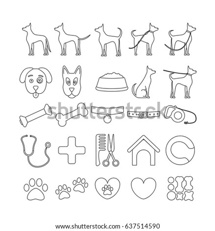 Vector Set Infographics Design Elements Dogs Stock Vector