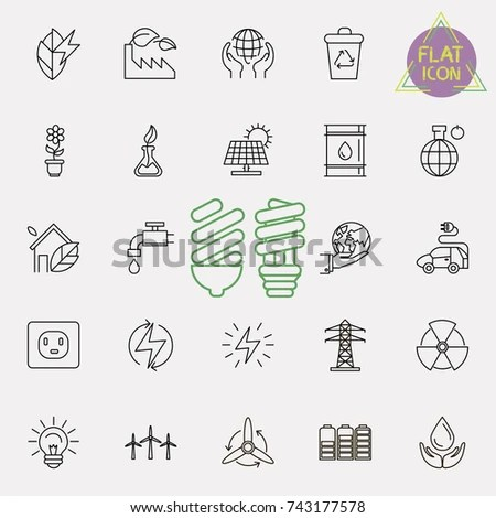 Renewable Energy Icons Stock Images, Royalty-Free Images