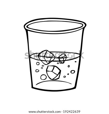 Glass Water Illustration Cartoon Clipart Vector Stock