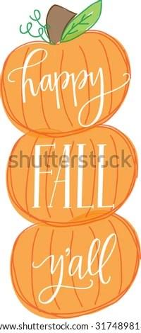 happy fall yall stock royalty-free