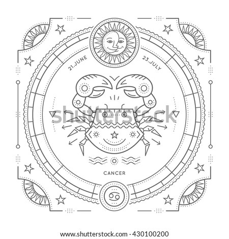 Cancer Zodiac Stock Images, Royalty-Free Images & Vectors