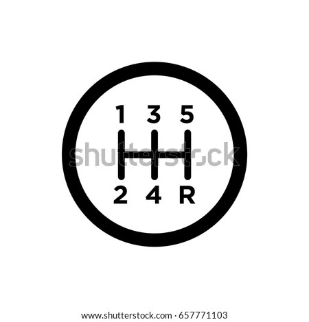 Vector Manual Gearshift Icon Stock Vector 657771103