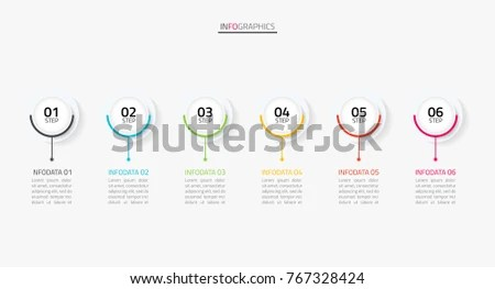 Vector Infographics Timeline Design Template 3d Stock