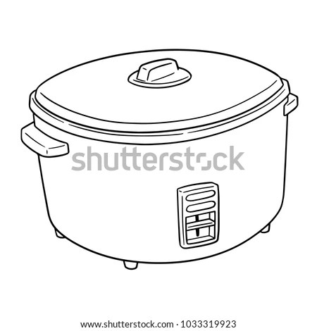 Vector Rice Cooker เวกเตอร์สต็อก (ปลอดค่าลิขสิทธิ์