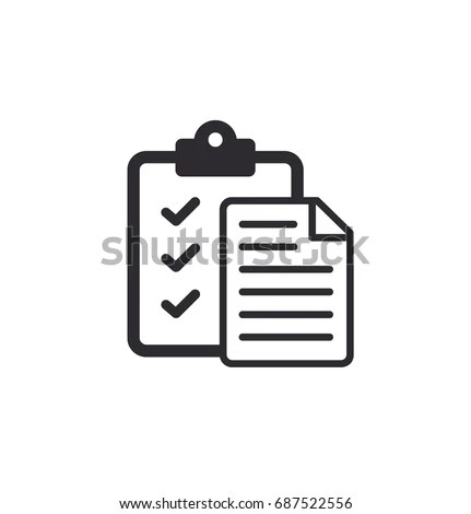 Tasks Vector Icon Clipboard Vector Icon Stock Vector