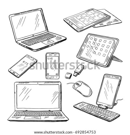 Laptop Drawing Stock Images, Royalty-Free Images & Vectors
