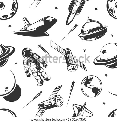 Cartoon Spaceship Cabin Interior Windows Into Stock Vector