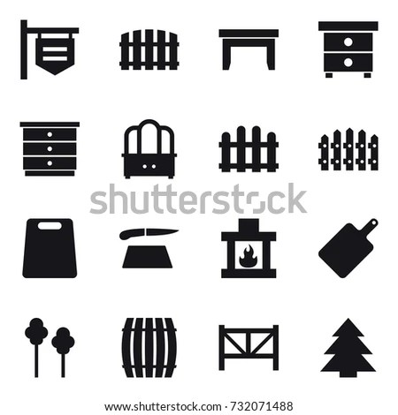 Electronic Microchip Components Icons Stock Vector