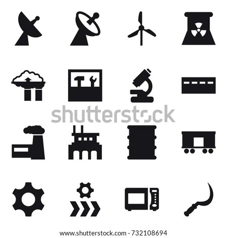 Pharmaceutical Production Vector Icon Sets Design Stock