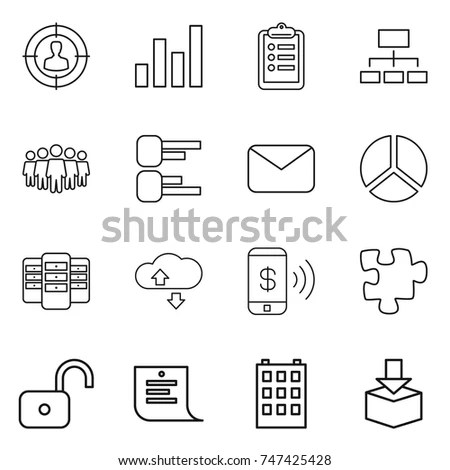 Data Analysis Icons Network Databases Vector Stock Vector