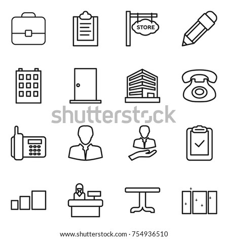Office Icons Simplus Series Each Icon Stock Vector