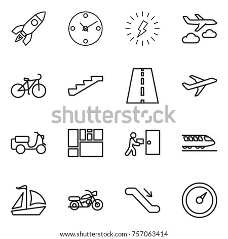 Collection Car Dashboard Icons On White Stock Vector