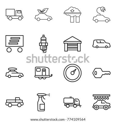 Electric Car Charging Engine Battery Vector Stock Vector
