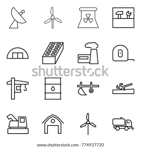 Electricity Industry Electrical Engineering Vector Line