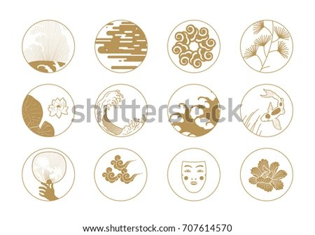 Asian Design Stock Images, Royalty