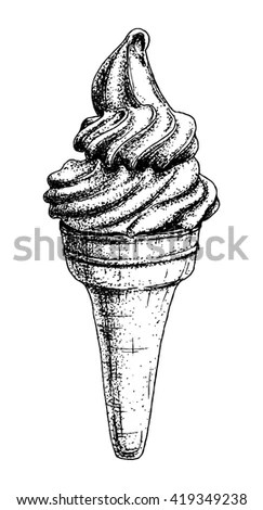 Icecream Silhouette Stock Images, Royalty-Free Images