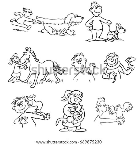 Funny Flute Illustration Vector Stock Images, Royalty-Free