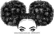 black woman curly hair stock vector