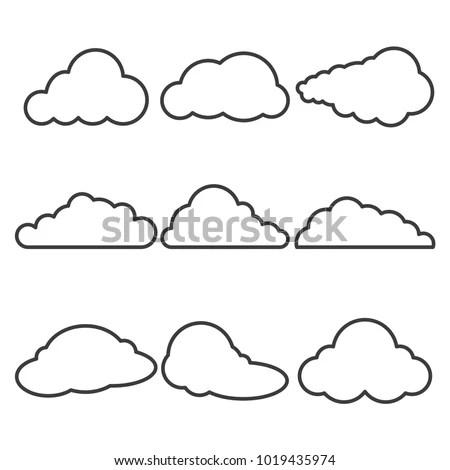 Cloud Contour Stock Images, Royalty-Free Images & Vectors