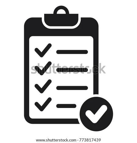 Checklist Vector Icon Check Mark Icon Stock Vector