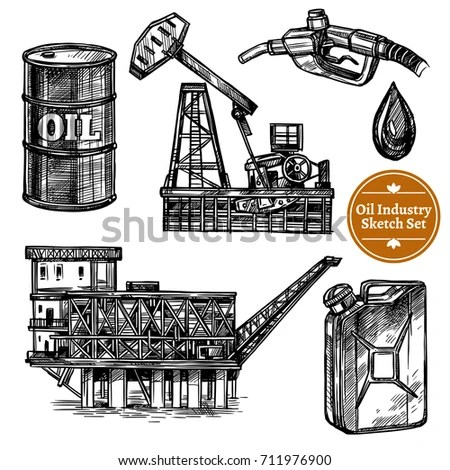 Refinery Sketch Stock Images, Royalty-Free Images