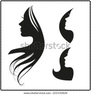 vector set of woman silhouette