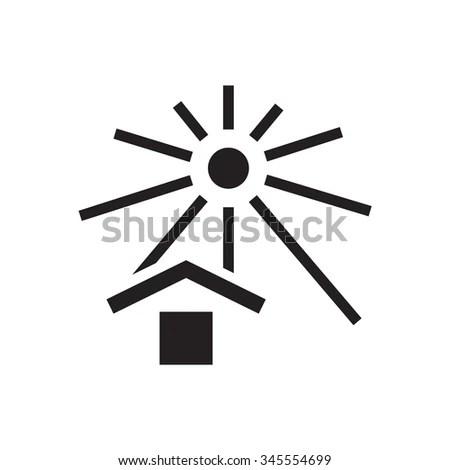 Keep Away Sunlight Cargo Signs Stock Vector 345554699