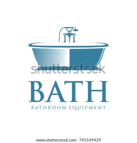 Bath Logo Bathroom Equipment Stock Vector 745549429