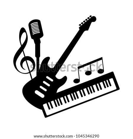 Music Icon Logo Indie Rock Pop เวกเตอร์สต็อก 1045346290