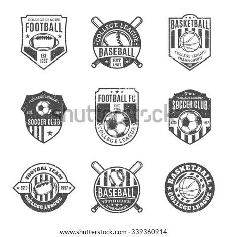 Modern Professional Logo Basketball Game Events Stock