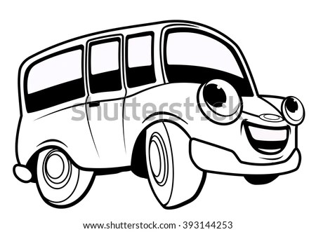 Bus Isolated Smiling Vector Stock Photos, Royalty-Free