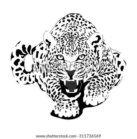 Leopard Black Interpretation Stock Vector (Royalty Free