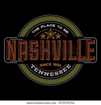 Nashville Tennessee Linear Logo Design T Stock Vector ...