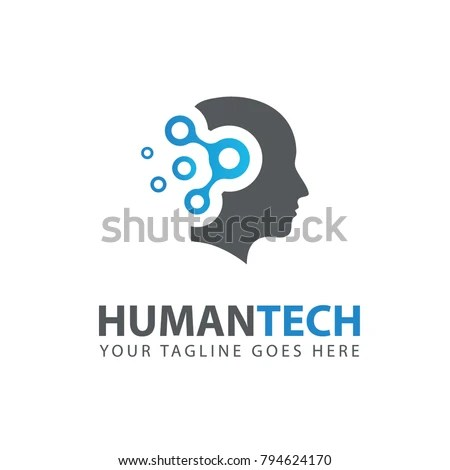Man Head Logo Abstraction Thinking Mind Stock Vector