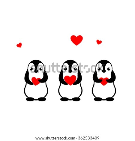 Isolated Vector Penguin Logo Designed Animals Stock Vector