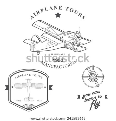 Pilot Wings Stock Photos, Royalty-Free Images & Vectors